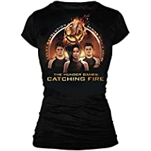The Hunger Games 2: Catching Fire Trio with Spark Quote Junioren Schwarz T-Shirt