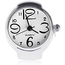 Anillo Con Reloj Mujer Moda Ajustable De Cuarzo De Anillo De Dedo Joyería  Señora Girl Regalo 25952a458c07