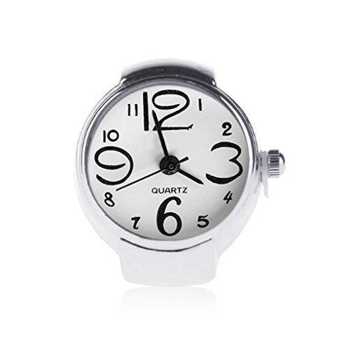Bobury Anillo con Reloj Mujer Moda Ajustable De Cuarzo De Anillo De Dedo Joyería Señora Girl Regalo 3