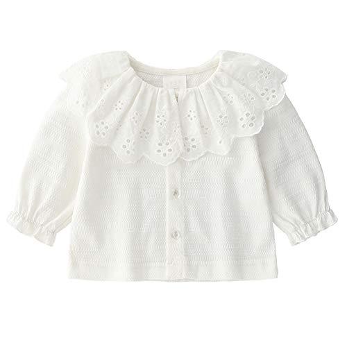 Algodón de los bebés Cardigan Botón de camisa de manga larga del...