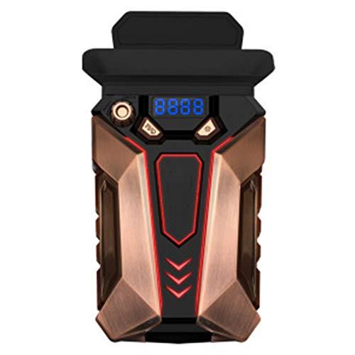 QWER Laptop-Lüfter-Kühler, Schnellkühlung, automatische Temperaturerkennung, USB-Kühler für tragbare Absauglüfter,Gold -