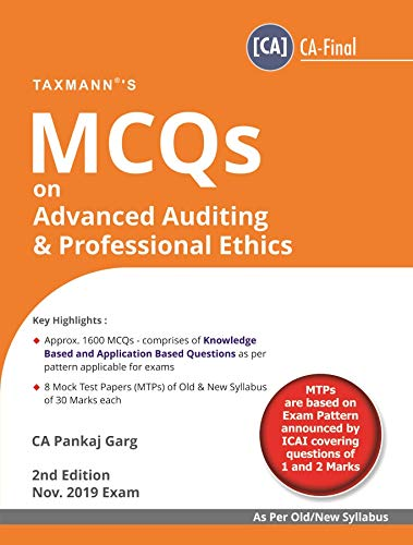 MCQs on Advanced Auditing & Professional Ethics(Nov 2019 Exam-As per Old/New syllabus)(2nd Edition June 2019)