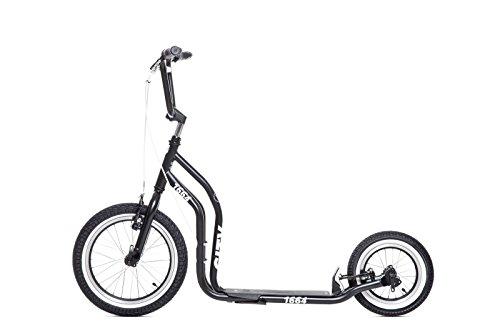 Preisvergleich Produktbild YEDOO Schwarz New York Tretroller - Kickbike - mit Luftbereifung für Erwachsene bis 120 Kg Scooter ab 12 Jahren kommt teilmontiert im Karton