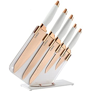 Salter 5 Piece Copper Rose Gold Coloured Knife Set With