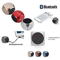 Jaytech Mini Basse Cube Xquare2 SA110KL 77002549 (haut-parleur actif Bluetooth avec puissante qualité sonore) rouge