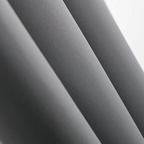 Deconovo Vorhang Blickdicht Schlaufen Verdunkelungsgardinen Gardinen Schlafzimmer 175×140 cm Hellgrau 2er set - 5
