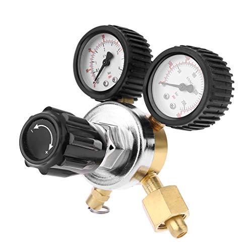 Qiman CO2 Regler Keg Bierregler Mit Druckbegrenzungsventil Für Gas 0-3000PSI (Dual Gauge) Kohlendioxid Reduzierer -