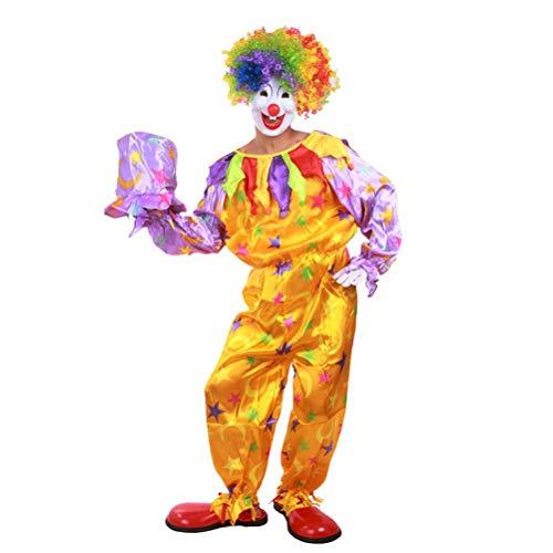 BESTOYARD Clown Kostüm Sets Karneval Schöne Kreative Leistung Kostüm Set für Mann Frau Mann