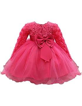 Huhu833 Baby Kleid Blume Baby Mädchen Prinzessin Kleid Brautjungfer Pageant Kleid Geburtstag Party Brautkleid