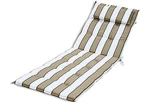kmh auflage f r sonnenliege beige gestreift 105040. Black Bedroom Furniture Sets. Home Design Ideas