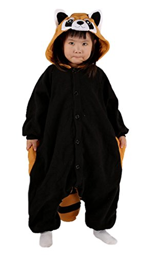 Waschbär Kostüm Kinder Schlafanzug Jumpsuit Tier Pyjamas Fasching Onesie Herren Karneval Cosplay Nachtwäsche (Waschbären Kostüm)