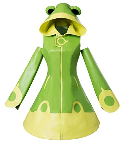 CCS 2 Kinomoto Sakura Frog Battle Dress Cosplay Kostüm Grün Damen XXXL (Sakura Kinomoto Cosplay Kostüme)