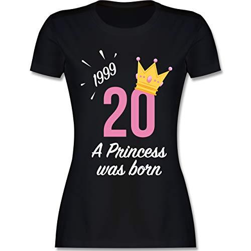 Geburtstag - 20 Geburtstag Mädchen Princess 1999 - M - Schwarz - L191 - Damen Tshirt und Frauen T-Shirt (1999 T-shirt)