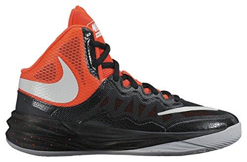 Nike Jungen Prime Hype Df Ii (Gs) Basketballschuhe Schwarz / Silber / Rot (Blk / SLVR-brght Rflct Crmsn-BRG)