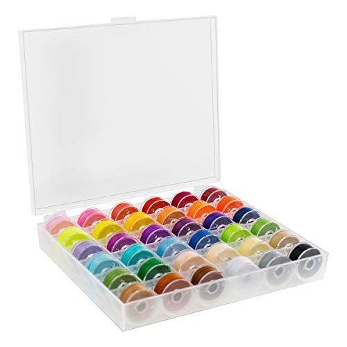 TRIXES 36 Stück Unterfadenspulen - für Nähmaschinen - Stickzubehör - mit Aufbewahrungsbox Kunsthandwerksprojekte & Bekleidung - Standardgröße