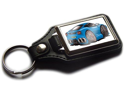 Ferrari F430Sports Auto Premium Koolart Leder und Chrom Schlüsselanhänger wählen Sie eine Farbe., blau