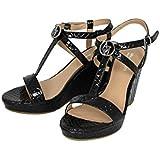 Armani Jeans Damenschuhe Shoe Keilabsatz Plateau Sandaletten A55E5