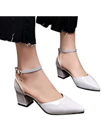 Sandalias mujer ❤️ Sonnena Sandalias de verano Mujer Zapatos de tacón grueso Zapatos de tacón alto Zapatos de playa Calzado zapatillas
