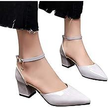 Sandalias mujer ❤ Sonnena Sandalias de verano Mujer Zapatos de tacón grueso Zapatos de tacón