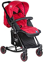 Mee Mee Baby Pram with Adjustable Seating Positions and Reversible Handle (Red)