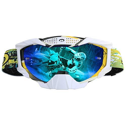 Aeici Sportbrille TPU Sicherheitsbrille Herren Motorradbrille Retro Vintage Gelb Mehrfarbig