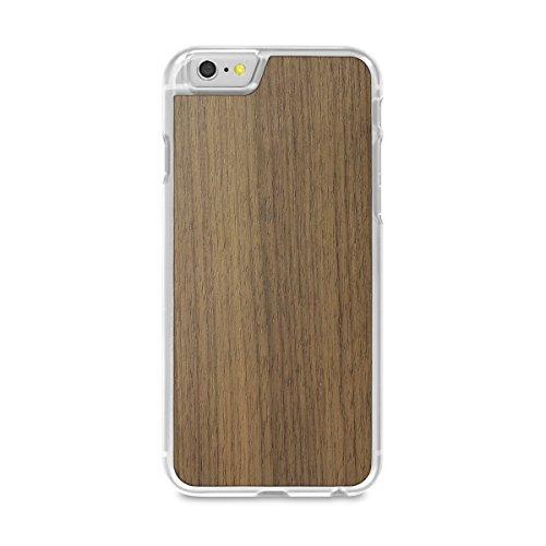 Cover-Up #WoodBack Hülle aus echtem Holz in klar für iPhone 6 / 6s - Kirsche - Nussbraun