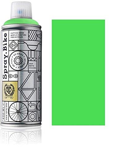 Fahrrad Lackspray in NEON Farben - KEINE GRUNDIERUNG notwendig - Acryllack / Lack Spray in 400 ml Spraydose, Matt- und Klarlack Optik möglich (Matt, Neon Grün)