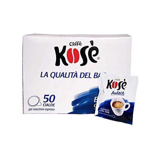 100 CIALDE CAFFE' KOSE' MISCELA AUDACE IN CARTA 44 MM ESE