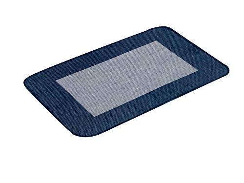 Homelife - tappeto cucina cotone antiscivolo - passatoia rettangolare per corridoio/sala da pranzo stile moderno - lavabile in lavatrice - qualità made in italy lavorazione jacard - blu - 60x230