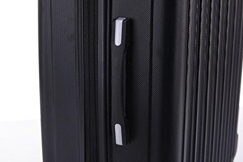 BEIBYE TSA Schloß, Zwillingsrollen, Dehnungsfuge, Hartschale Trolley Koffer Kofferset Reisekoffer Gepäckset (Schwarz) - 6