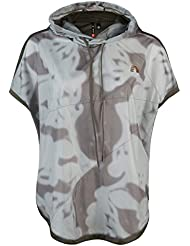 Newline iMotion Printed Poncho Mujer, color gris, tamaño extra-small