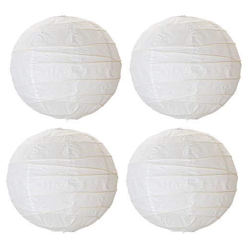IKEA REGOLIT - Pantalla para lámpara (45 cm, 4 unidades), diseño de bola de arroz, color blanco