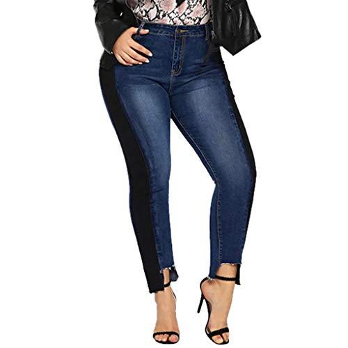 Produp Damen Boot Cut Hosenjeans Elastic Plus Size Denim Pocket Button Lässige Jeanshose -