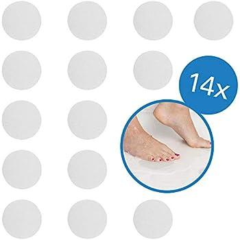 selbstklebend Sicherheit f/ür Duschen und Badewannen Ealicere 14 St/ück Premium Anti-Rutsch-Aufkleber rund 10 cm /ø transparent der geniale Rutschschutz