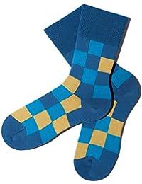Bunte Socken - Muster: Pixelate - Bermuda - GOTS zertifiziert - aus feinster Bio Baumwolle - Komfortbündchen