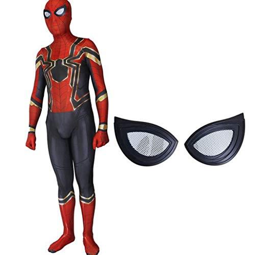 Kostüm Spiel Spiderman 1 - TOYSSKYR Iron Spider-Man Rehabilitation 3 Cosplay Kostüm Elastische Strumpfhose Film Spiel Kostüme (Farbe : Schwarz-1, größe : XL)