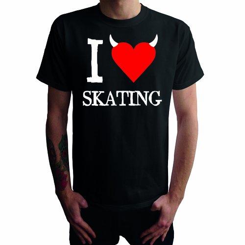 I don't love Skating Herren T-Shirt Schwarz