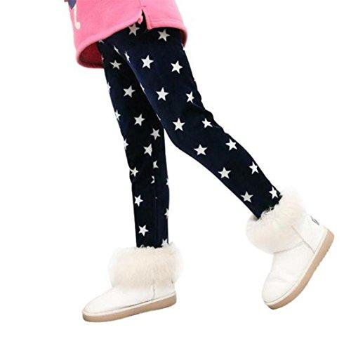 Flat-front-hose Gefüttert (Tefamore Winter Mädchen Leggings Dicke warme elastische Taille Legging Kleidung Hose (120))