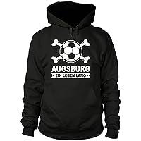 shirtloge - AUGSBURG - Ein Leben Lang - Fan Kapuzenpullover - Größe S - 3XL