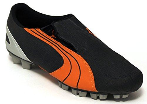 Puma v5.06 Chaussures Football junior GCR HG Jr – 101186 – 18 – EBONY/Jaffa Orange/METALLIC silver-28