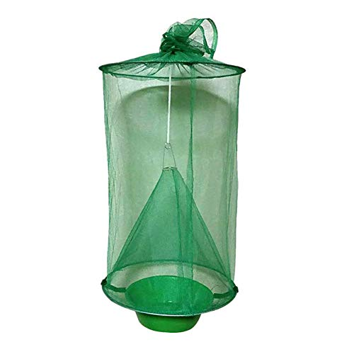Henreal Flycatcher Top Catcher Non-Toxic Folding Ranch Fly Trap Non-Toxic Hanging Catcher Cage Traps