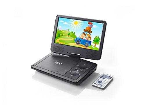 Voyager tragbarer DVD-Player 22,8 cm (9 Zoll) mit schwenkbarem Bildschirm/integriertem Akku schwarz