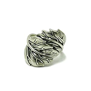 Sterling silber Ring Blatt 925 Empress Größe 45-69