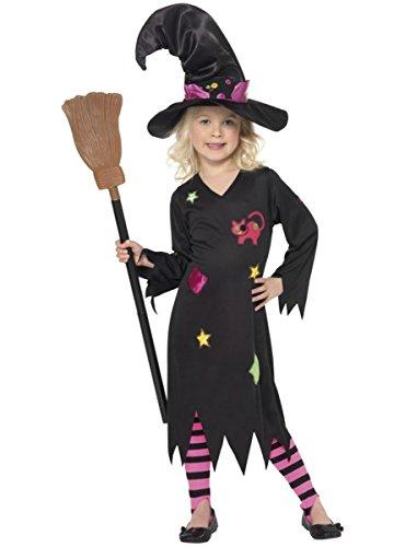 Hexen Halloweenverkleidung für Mädchen - 7-9 Jahre