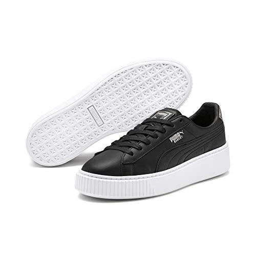 PUMA Basket Platform Opulent Damen Sneaker Puma Black-Puma White 4