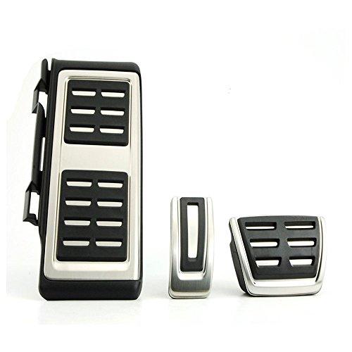 Preisvergleich Produktbild Di&Mi Pedalauflagen Pedale Bremse Fußstütze Pedalset aus Edelstahl AT / MT (3)