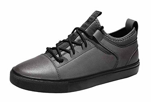 Männer Casual Skateboard Schuhe Frühjahr Neue Low Top Fashion Flats Schuhe ( Color : Gray , Size : 40 ) (Schuhe Flats Guess)