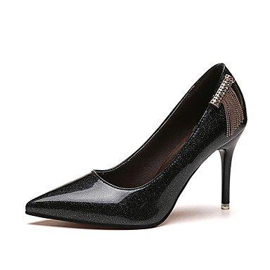 RTRY Donna Comfort Tacchi Pu Estate Casual Pearl Stiletto Heel Marrone Scuro Bianco Nero 2A-2 3/4In US6 / EU36 / UK4 / CN36