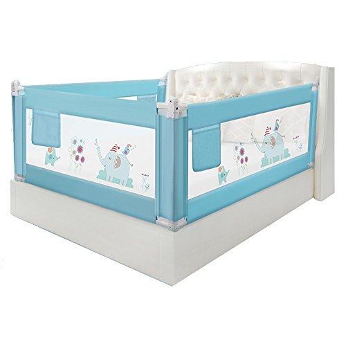 HUO Bettgitter Baby-Leitschienen-Kombinations-vertikales Anhebendes Zaun-Bett-Schalldämmungs-Blau Leicht zu tragen (Farbe : Blue, größe : 1.8+2+2m)