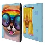 Head Case Designs Offizielle Boo-The World's Cutest Dog Rasta Charakter Kunst Brieftasche Handyhülle aus Leder für iPad Air 2 (2014)
